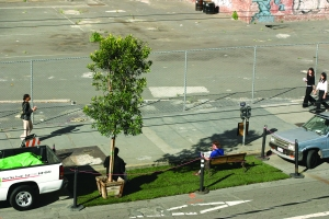 The original PARK(ing) Day.   Photo credit: Rebar/Andrea Scher